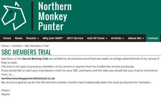 Northern Monkey Punter, SBC Discount