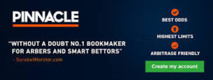 Pinnacle Number 1 Bookmaker for Arbitrage