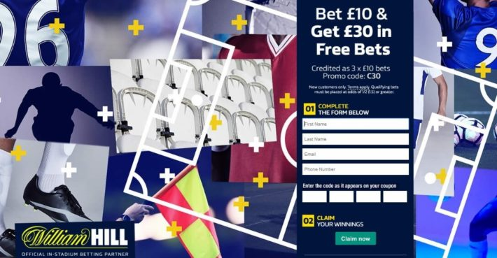 William Hill Sports Sign-Up Offer Page