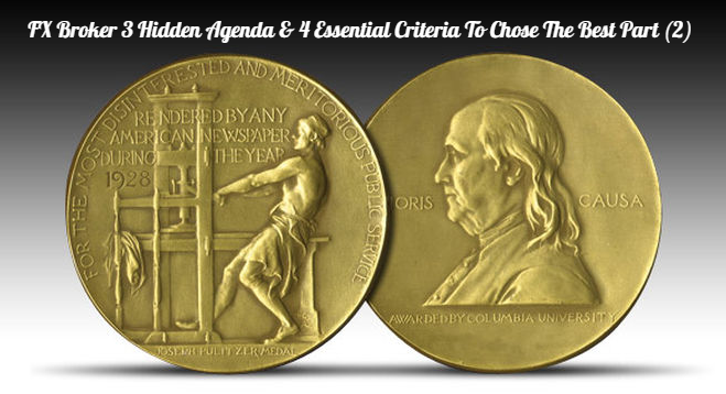 Pulitzer Prize Coin The Best FX Broker