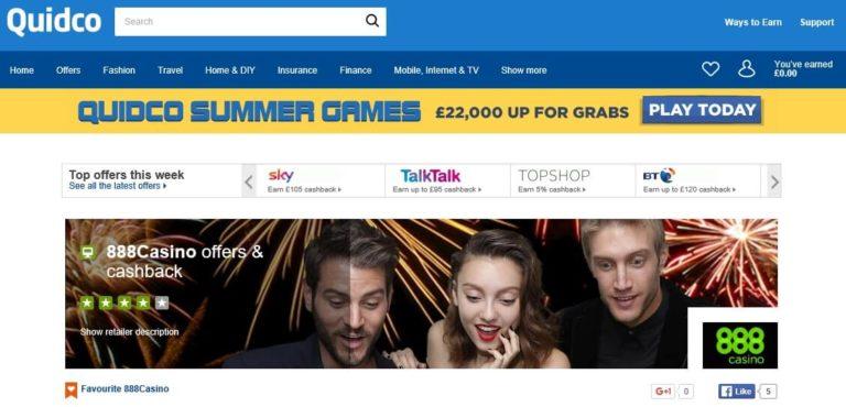 Casino Bonus Cashback Sites Quidco 888Casino