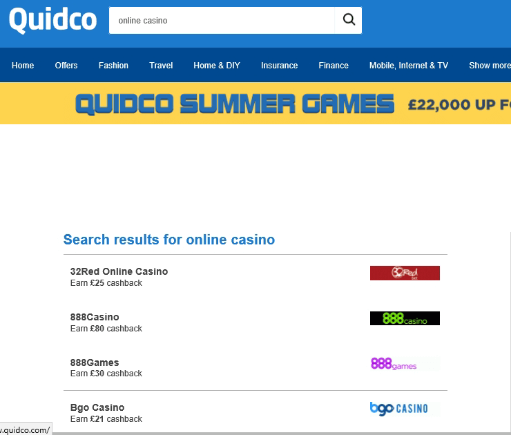 Casino Bonus Cashback Sites Quidco