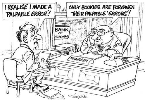 Sports Arbitrage Palpable Error of Bookies