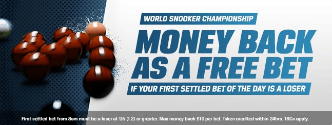 Coral Risk Free Bet Sign Up World Snooker