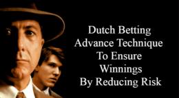 dutching betting, technique to ensure profit