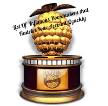 Infamous Bookmakers List Raspberry Awards Trophy