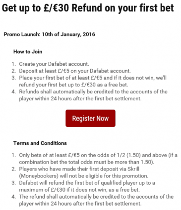 get up £30 refund on your first bet campaign shot