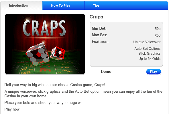 Casino Craps Rule Explanation