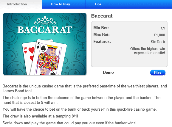 Baccarat Game Rule