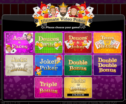Video Poker Varieties