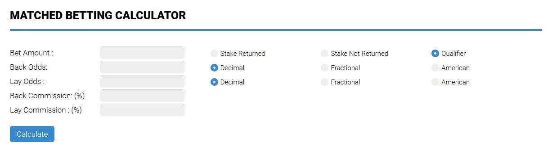 No Risk Matched Betting Calculator Bonus Bagging Free
