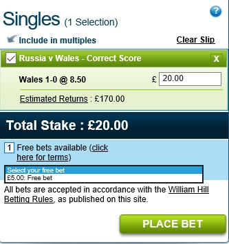 How to use free bets on william hill boylesports betting rules holdem
