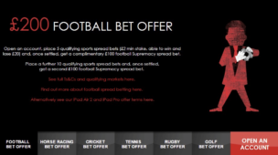 Spreadex Sports Spread Betting Bonus Offer