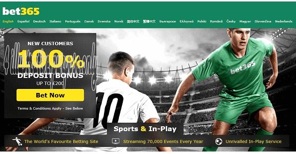 Bet365 100% Matching Sports Deposit Bonus