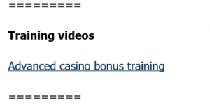Advanced Casino Offers are given in the first page