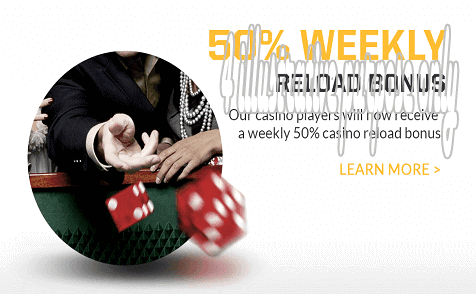 50% weekly reload bonus