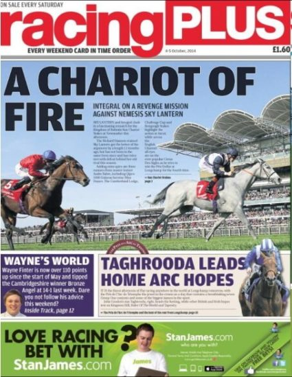 Saturday column in Racing Plus