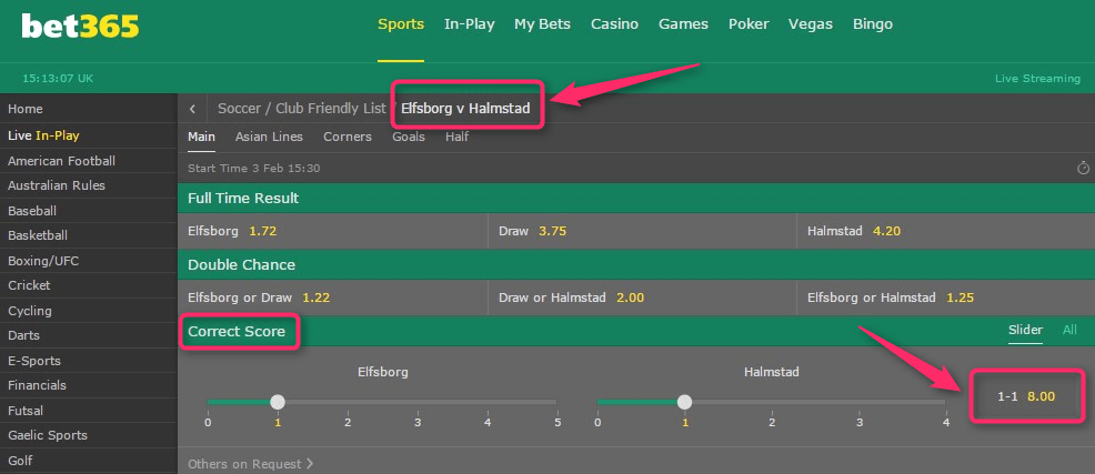 Bet365 Bore Draw Money Back Bet365 Odds