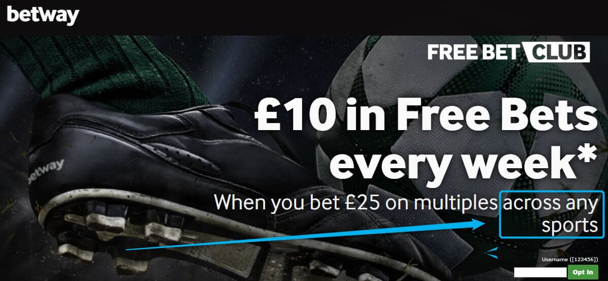 Betway Free Bets Club All Sports