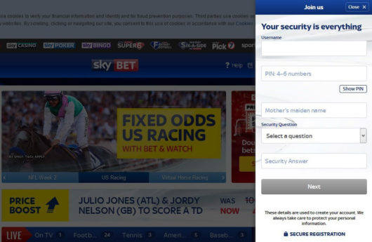 Sky Bet Offers Registration Third Screen