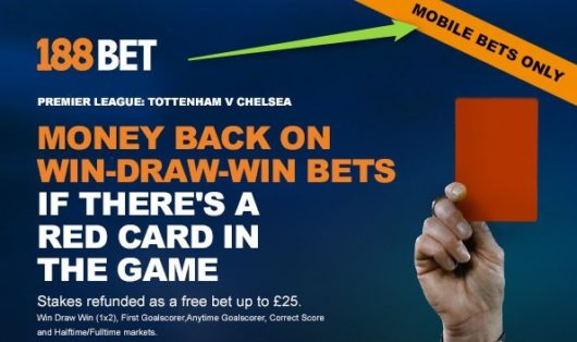 188Bet Red Card Refund Mobile Only