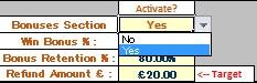 ACCA Insurance Spreadsheet Bonus Activation