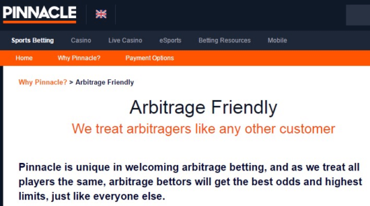 Pinnacle Exchange Sports Arbitrage