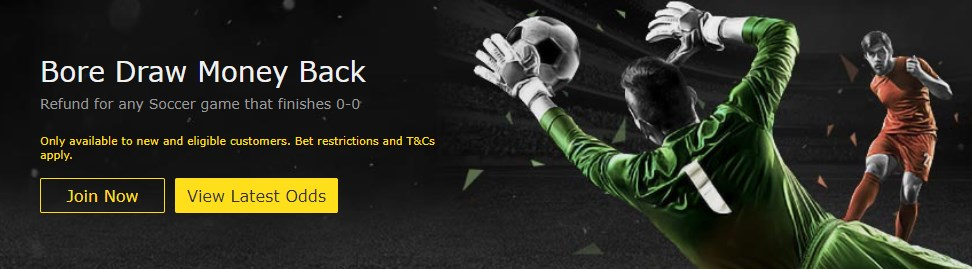 Bet365 Bore Draw Money Back Image