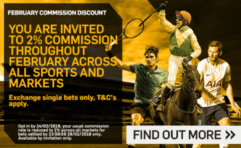 bet365 in play offer, betfair two percent commission