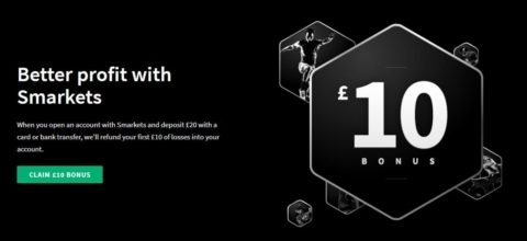 smarkets £10 welcome offer image