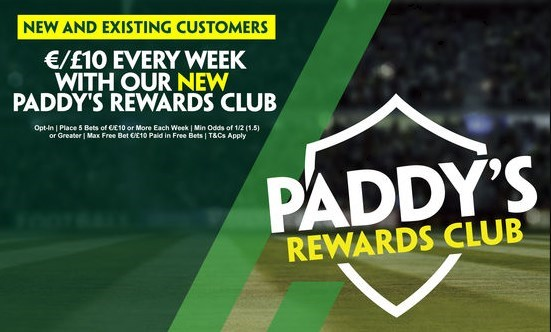 paddy power acca insurance, reward club