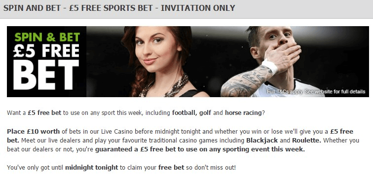 Betting Promotions StanJames T&C