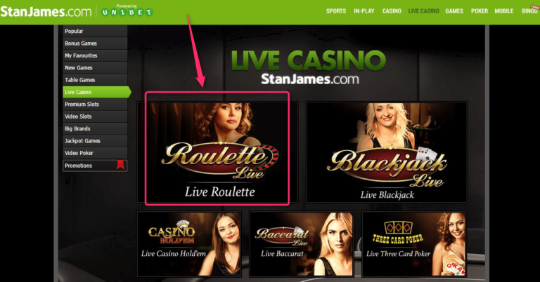 Betting Promotions StanJames Live Casino Introduction