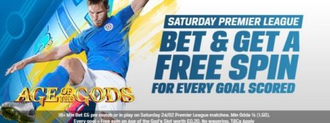 coral free spins, premier league