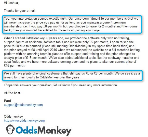 Oddsmonkey Review Price Commitment From Paul
