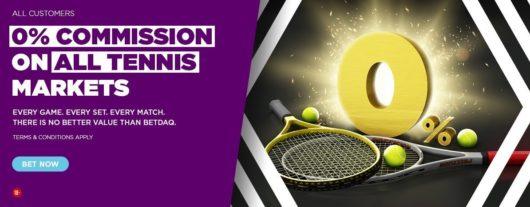 Betdaq Tennis 0 Commission