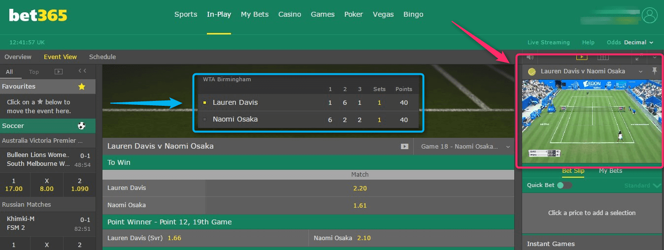 Live Betting Tennis Bet365 Movie