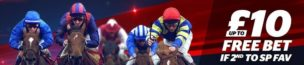 Horse Racing Refund Offers 10 Bet Beaten By SP Favorite