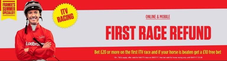 Horse Racing Refund Offers Ladbrokes ITV Offer