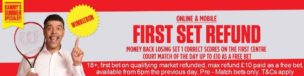 No Lay Matched Betting Ladbrokes Wimbledon 1st Set Offer