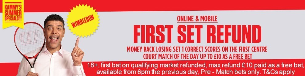 No Lay Matched Betting Ladbrokes Wimbledon 1st Set Offer