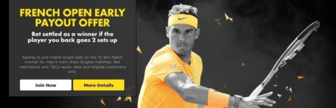 bet365 french open 2 up