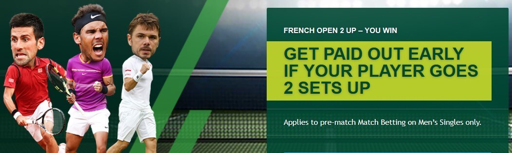 paddy power french open 2 up