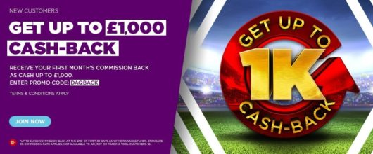Betdaq 1K Cash Back Offer