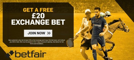 Betfair Exchange Sign Up Offer Oct 2017