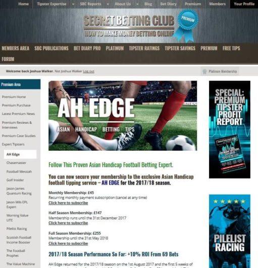 Secret Betting Club Review, Premium