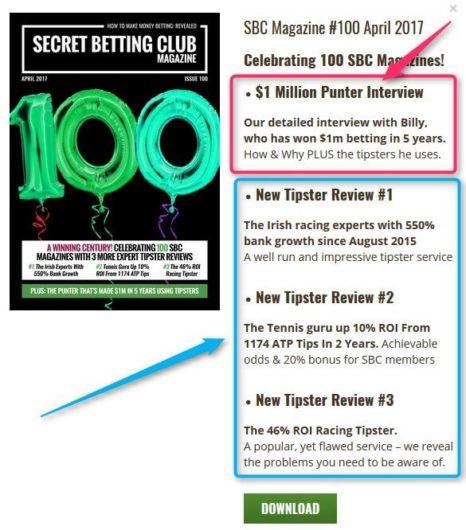 Secret Betting Club Review, SBC Magazine