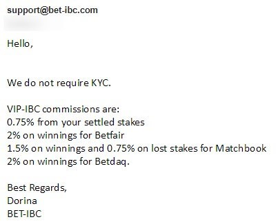 Bet IBC No KYC
