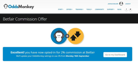 oddsmonkey review, betfair reduce commission