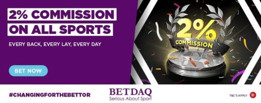 betdaq permanent 2 percent commission